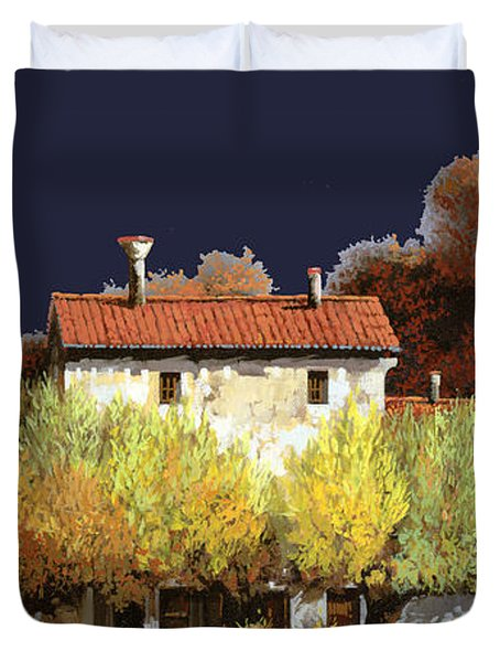 Notte In Campagna Duvet Cover by Guido Borelli