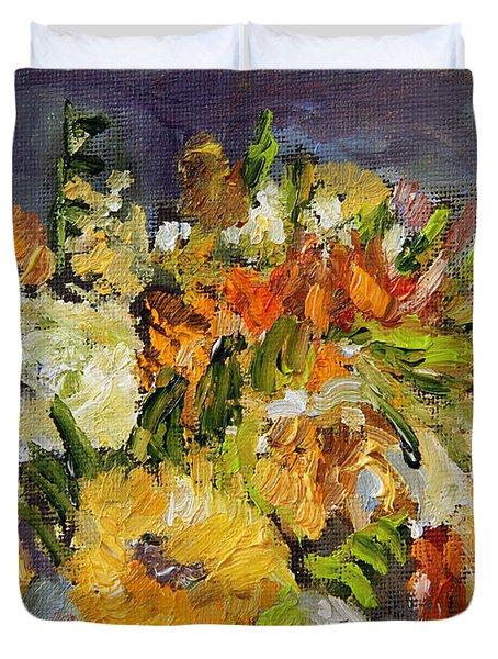 November Bouquet Duvet Cover