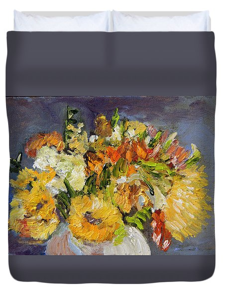 November Bouquet Duvet Cover