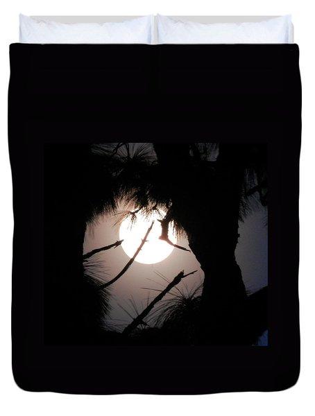 Florida November Full Moon Duvet Cover by Belinda Lee