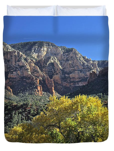 Duvet Cover featuring the photograph November In Sedona by Penny Meyers