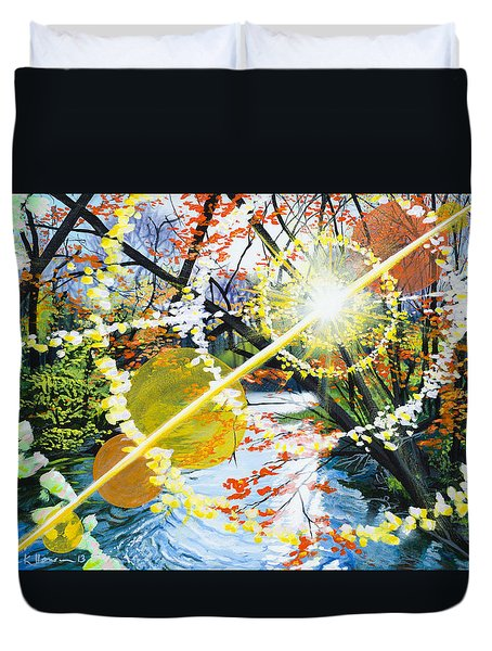 The Glorious River Duvet Cover
