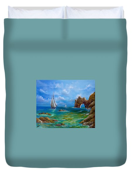 Duvet Cover featuring the painting Now Voyager by Patrice Torrillo