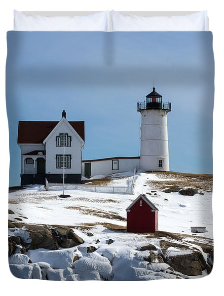 Nubble Light 2 Duvet Cover by Kevin Fortier