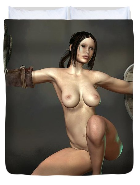 Nude Athena Duvet Cover