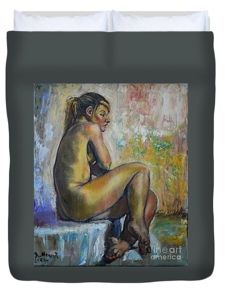 Nude Eva 1 Duvet Cover