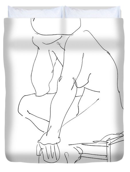 Nude Female Drawings 12 Duvet Cover