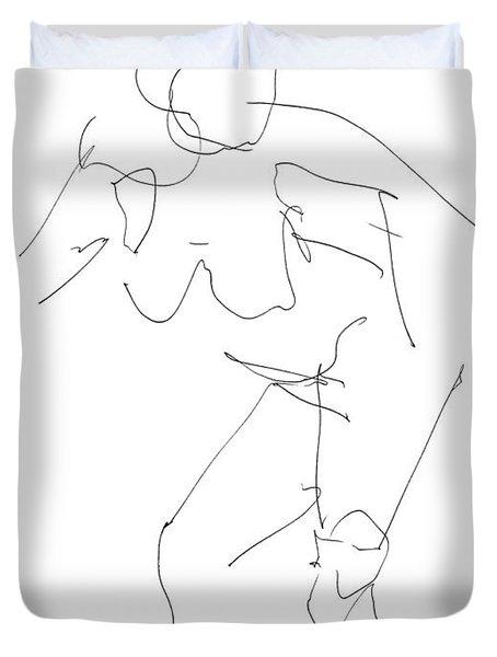 Nude Female Drawings 14 Duvet Cover