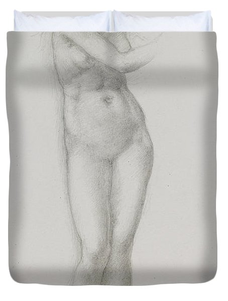 Nude Female Figure Study For Venus From The Pygmalion Series Duvet Cover