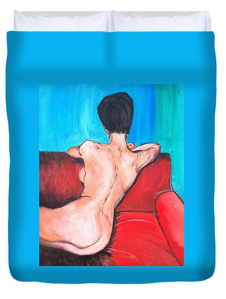 Nude Lady - Mad Men Duvet Cover