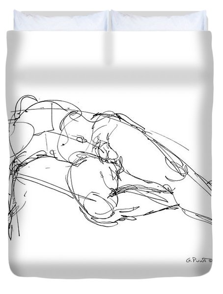 Nude Male Drawings 1 Duvet Cover