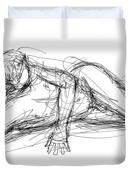 Nude Male Sketches 5 Duvet Cover