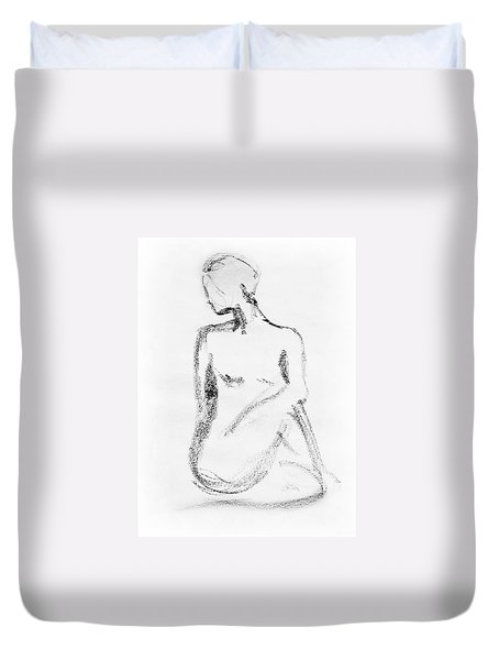 Nude Model Gesture Vi Duvet Cover