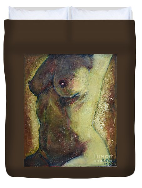 Nude Female Torso Duvet Cover