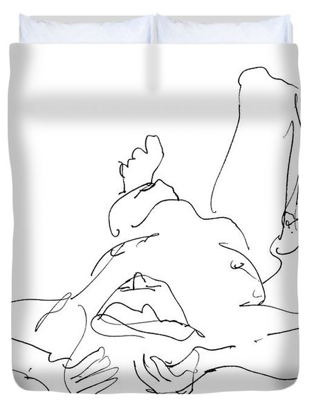 Nude_male_drawings-22 Duvet Cover