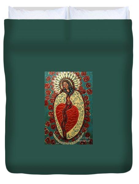Nuestra Senora De Guadalupe Duvet Cover by Maya Telford