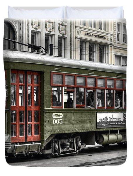 Duvet Cover featuring the photograph Number 965 Trolley by Tammy Wetzel