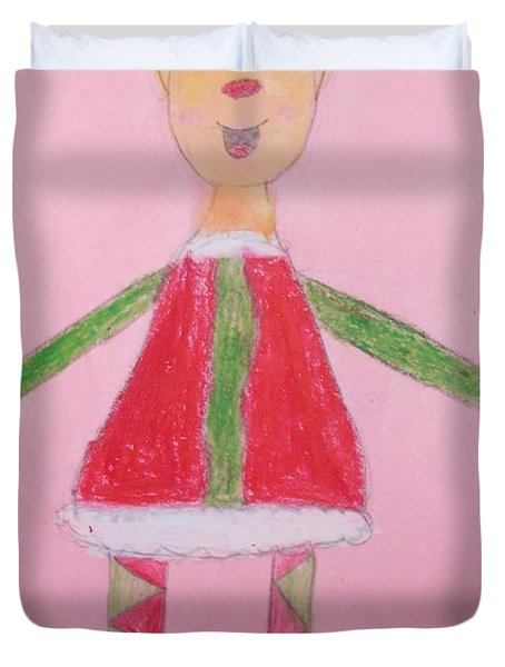 Number One Elf  Duvet Cover by PainterArtist FIN