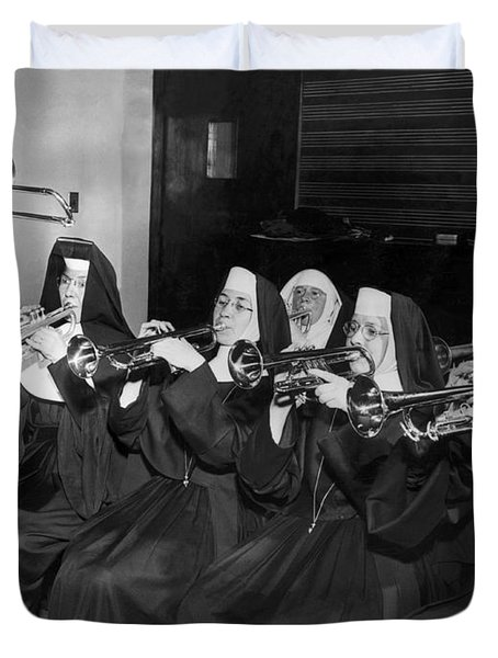 Nuns Rehearse For Concert Duvet Cover