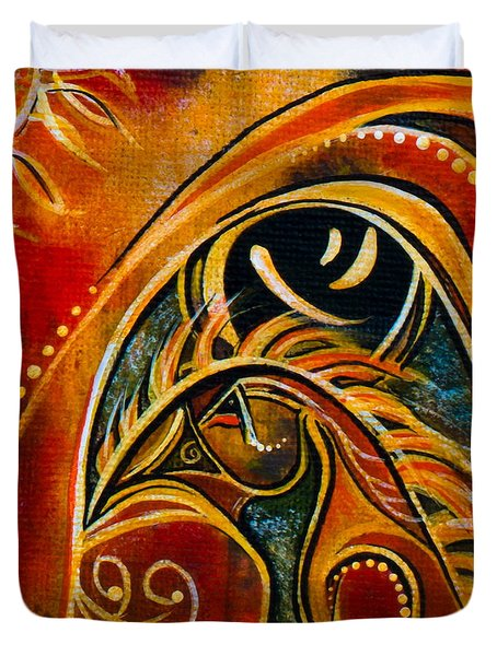 Nurturer Spirit Eye Duvet Cover by Deborha Kerr
