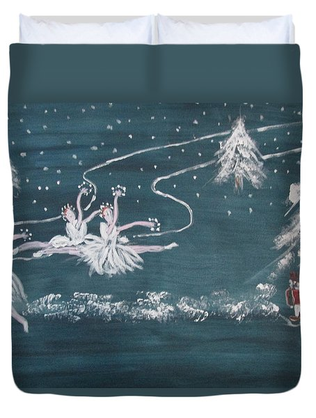 Nutcrackers Dance Of The Snowflakes Duvet Cover