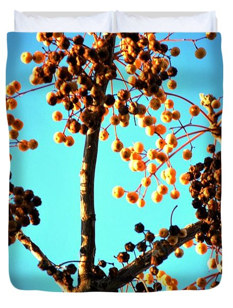 Duvet Cover featuring the photograph Nuts And Berries by Matt Harang