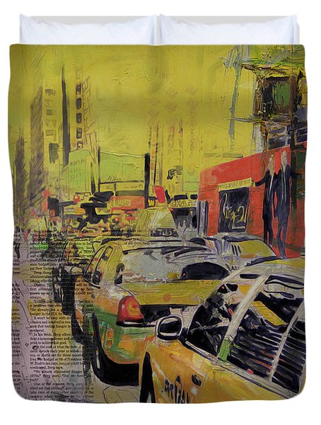 Ny City Collage Duvet Cover by Corporate Art Task Force
