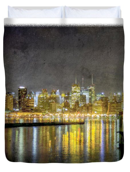 Nyc At Night Duvet Cover