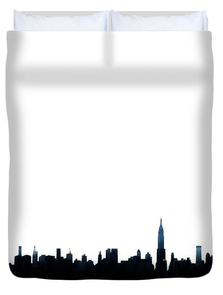 Nyc Silhouette Duvet Cover