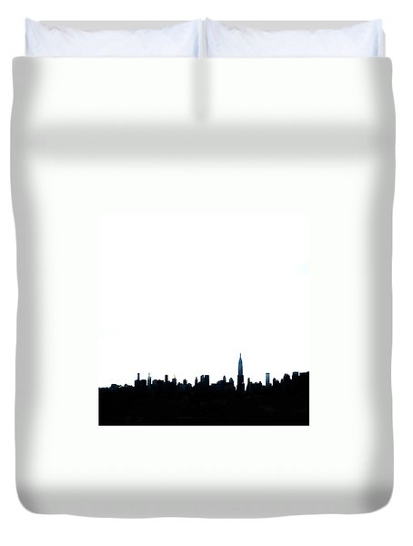 Nyc Silhouette Duvet Cover by Natasha Marco