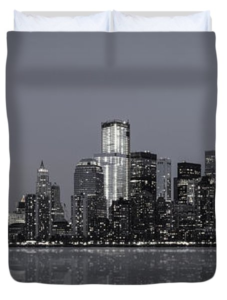 Nyc Skyline Duvet Cover by Eduard Moldoveanu