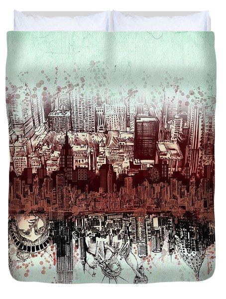 Nyc Tribute Skyline 3 Duvet Cover