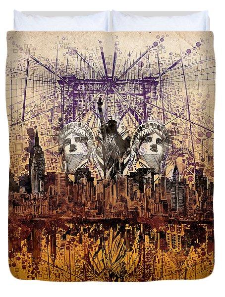 Nyc Tribute Skyline 6 Duvet Cover