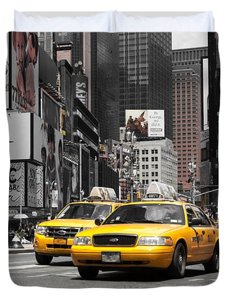 Nyc Yellow Cabs - Ck Duvet Cover by Hannes Cmarits