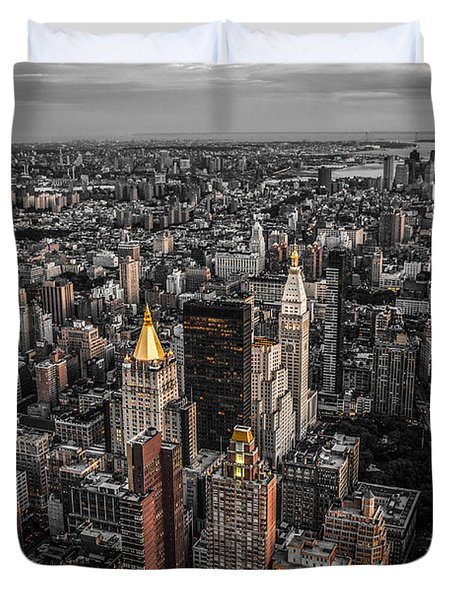 Nycs Golden Tops Duvet Cover by Hannes Cmarits