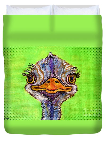 O For Ostrich Duvet Cover by Ella Kaye Dickey