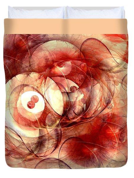 O Positive Duvet Cover by Anastasiya Malakhova