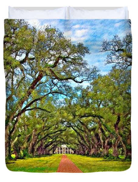 Oak Alley 3 Oil Duvet Cover by Steve Harrington