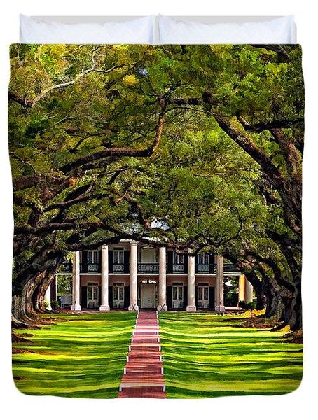 Oak Alley Paint  Duvet Cover by Steve Harrington