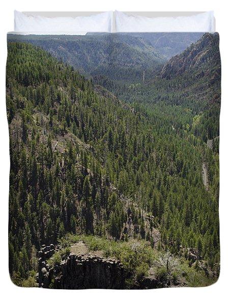 Oak Creek Canyon Overlook Duvet Cover by David Gordon