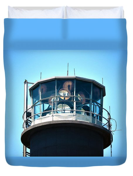 Oak Island Lighthouse Beacon Lights Duvet Cover by Sandi OReilly