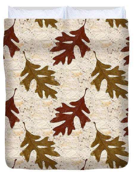 Oak Leaf Pattern Duvet Cover by Christina Rollo