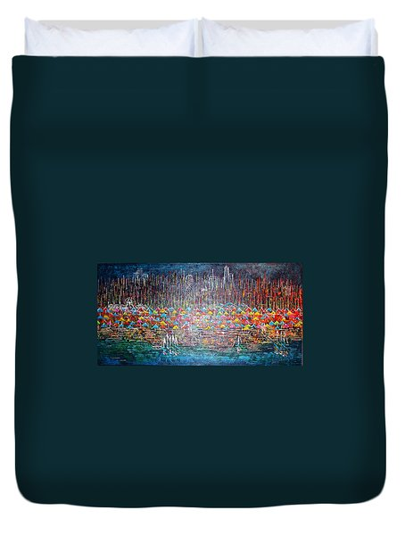 Oak Street Beach Chicago II -sold Duvet Cover