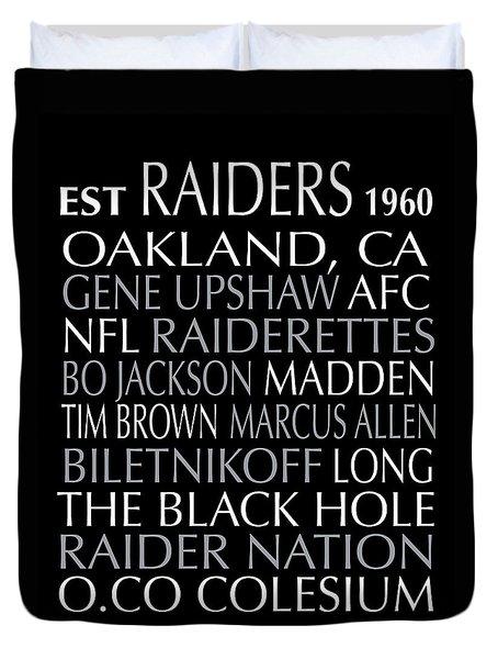 Oakland Raiders Duvet Cover