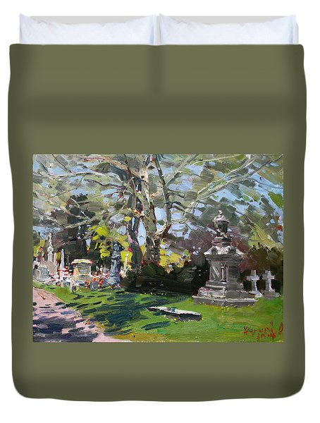 Oakwood Cemetery Duvet Cover