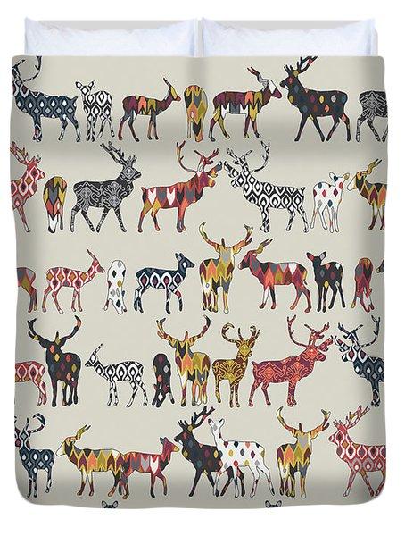 Oatmeal Spice Deer Duvet Cover