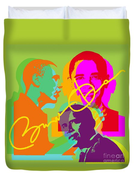 Obama Duvet Cover by Jean luc Comperat