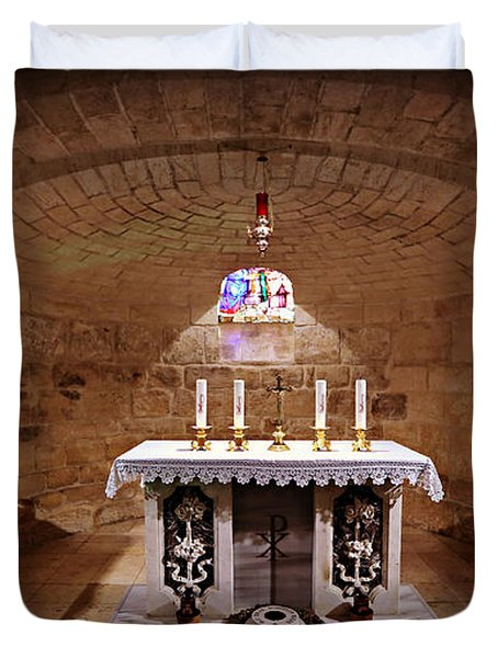 Obedience - The Church Of Saint Joseph's Carpentry Duvet Cover