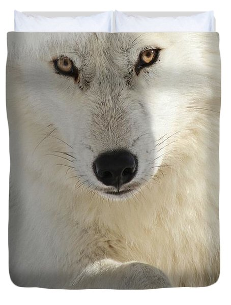 Obedience Duvet Cover by Heather King