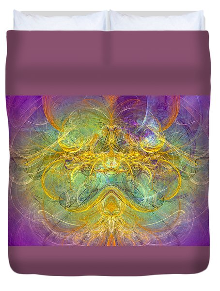 Obeisance To Nature - Spiritual Abstract Art Duvet Cover